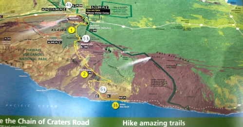 Map of Volcanoes National Park