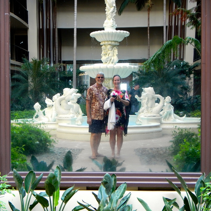 Picture through mirror at Hilton's Waikola Village Resort
