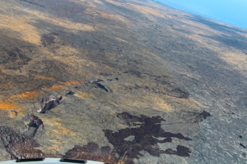 Recent lava flows down Mt. Kilauea