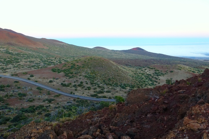 Road up Mauna Kea