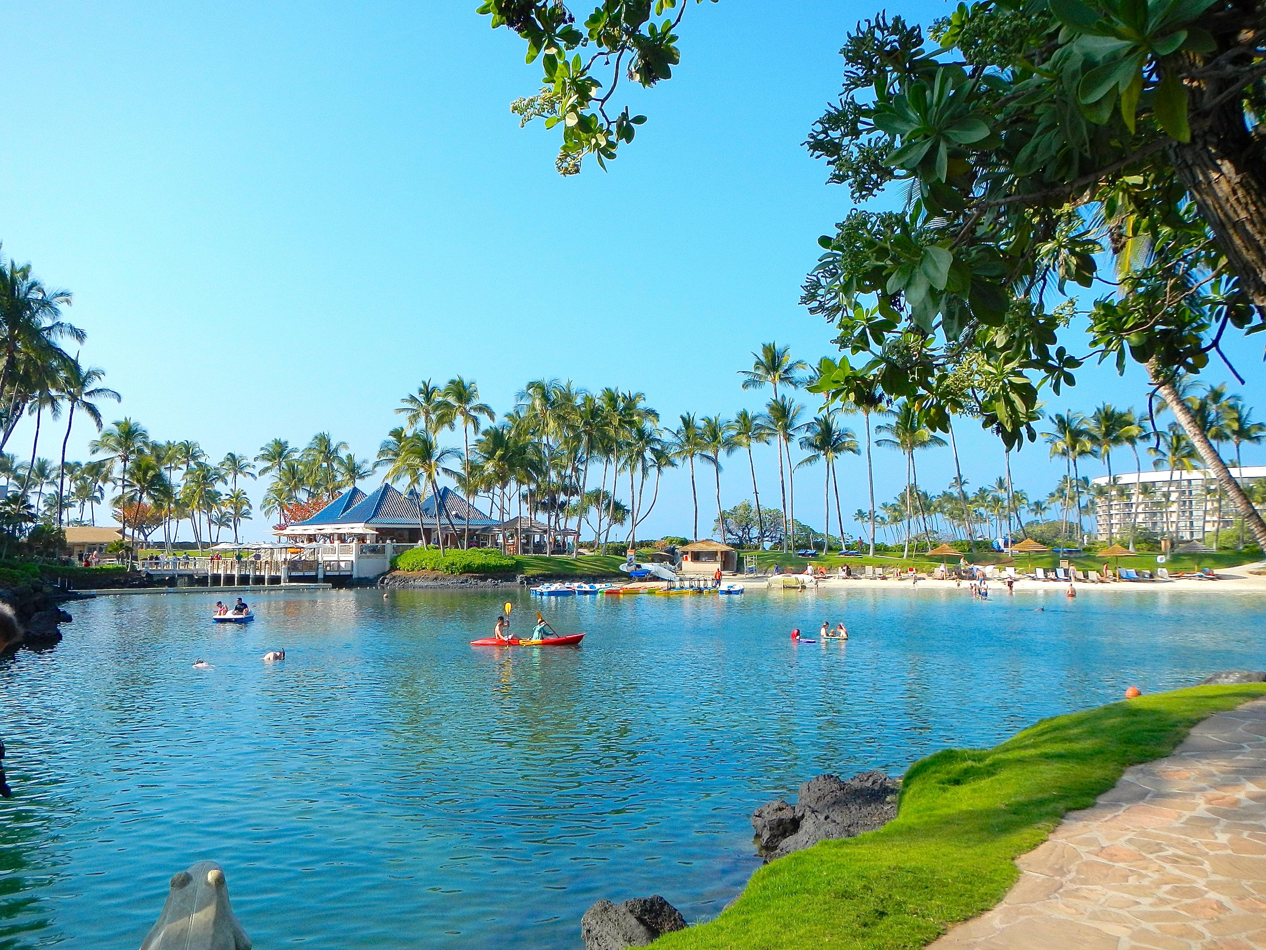 Saltwater Lagoon at Hilton's Waikola Village Resort
