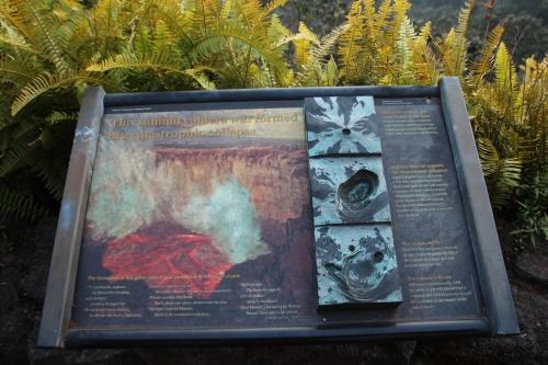 Sign explaining the formation of the Kiauea Caldera