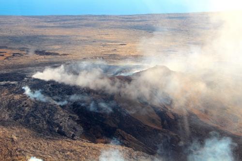 Steam from Lava Lake. Mt. Kilauea