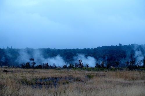 Steaming over Kilauea Caldera