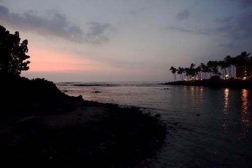 Sunset on Hawaiian Coast