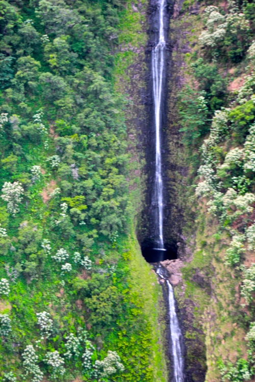 Waihilau Falls in the Waimanu Valley. Hawaii 3