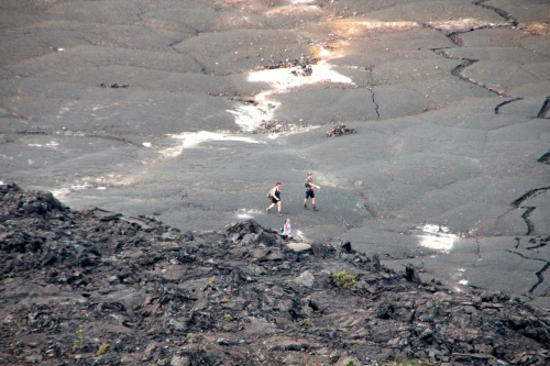 Walking across Kilauea Iki