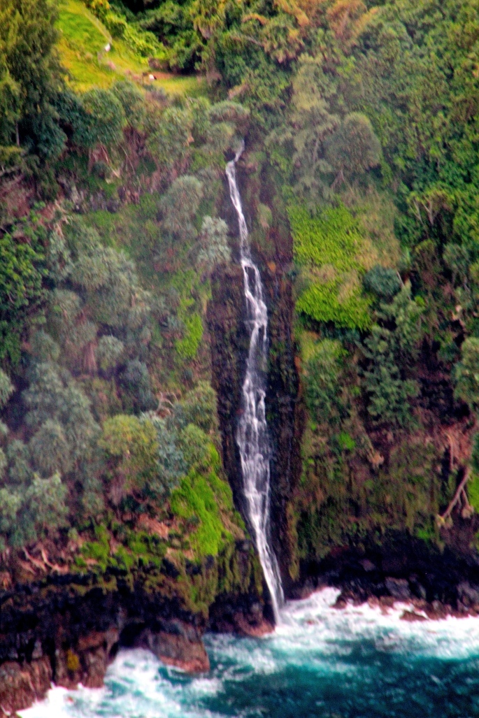 Waterfalls off Coast of Big Island Hawaii 2