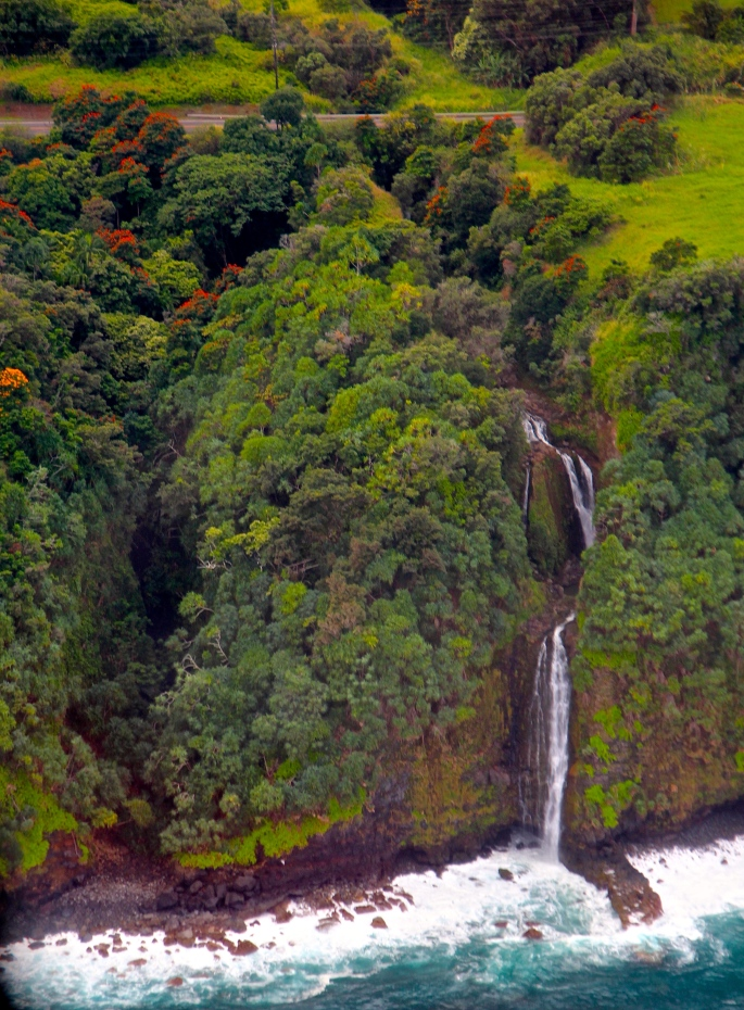 Waterfalls off Coast of Big Island Hawaii 8