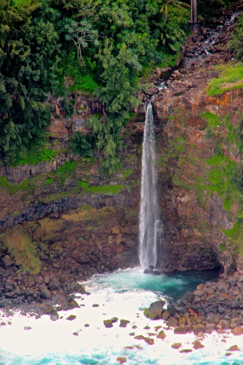 Waterfalls off Coast of Big Island Hawaii