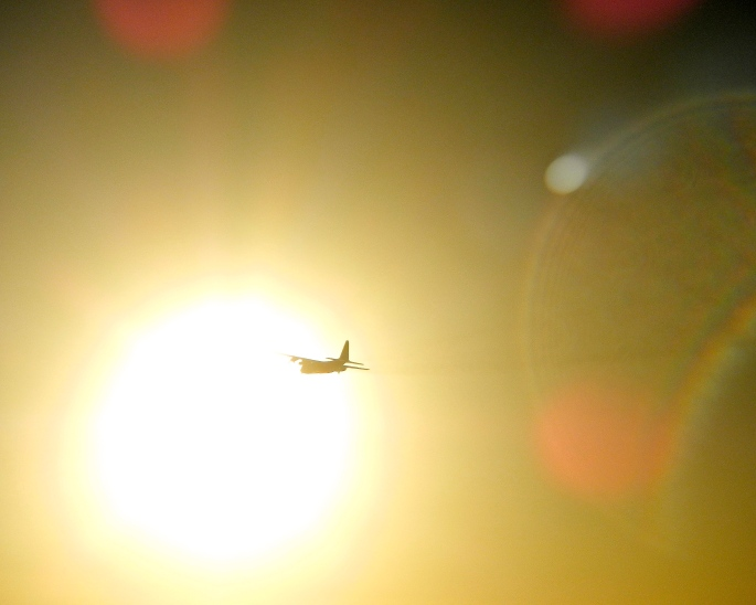 Airplane in Sun