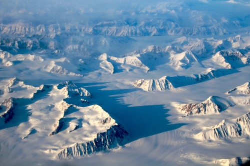 Alaskan Mountains Aerial View