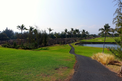 Golf course next to Petroglyph field near Waikoloa
