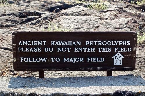 Hawaiian petroglyphs. Waikoloa