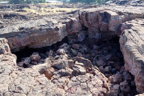 Lava Cave collapses near Waikoloa