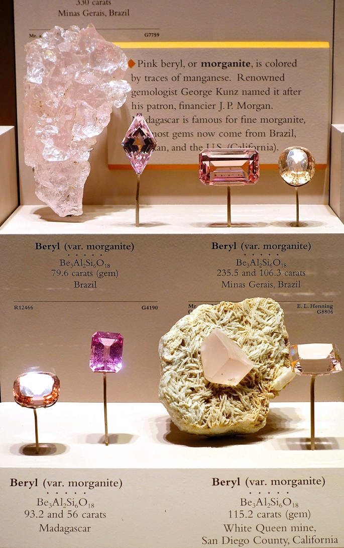 Morganite Beryl National Natural History Museum. Washington D.C.