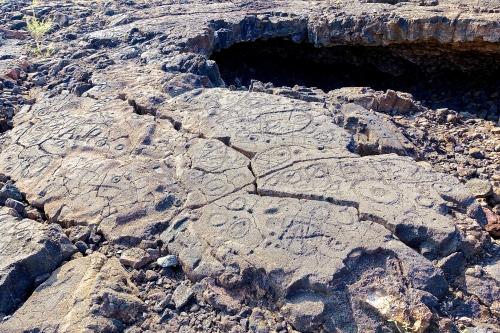 Petroglyph field near Waikoloa