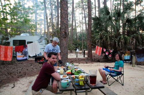 Picnic Dinner at Fort Wilderness Campground