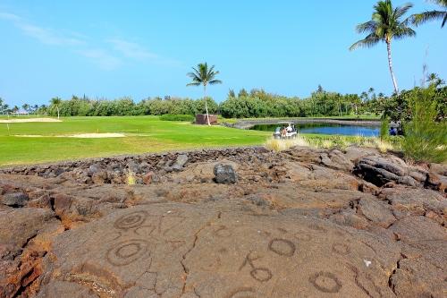 Proximity of Golf Course and Petroglyph field near Waikoloa