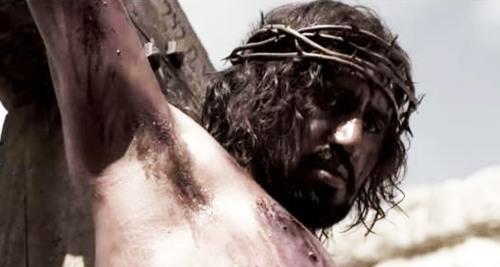 Risen. Christ on cross