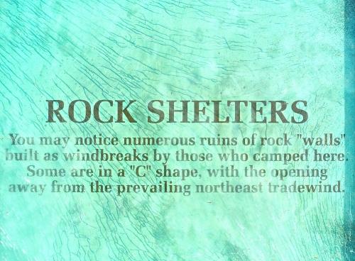 Rock Shelters. Hawaiian petroglyphs. Waikoloa