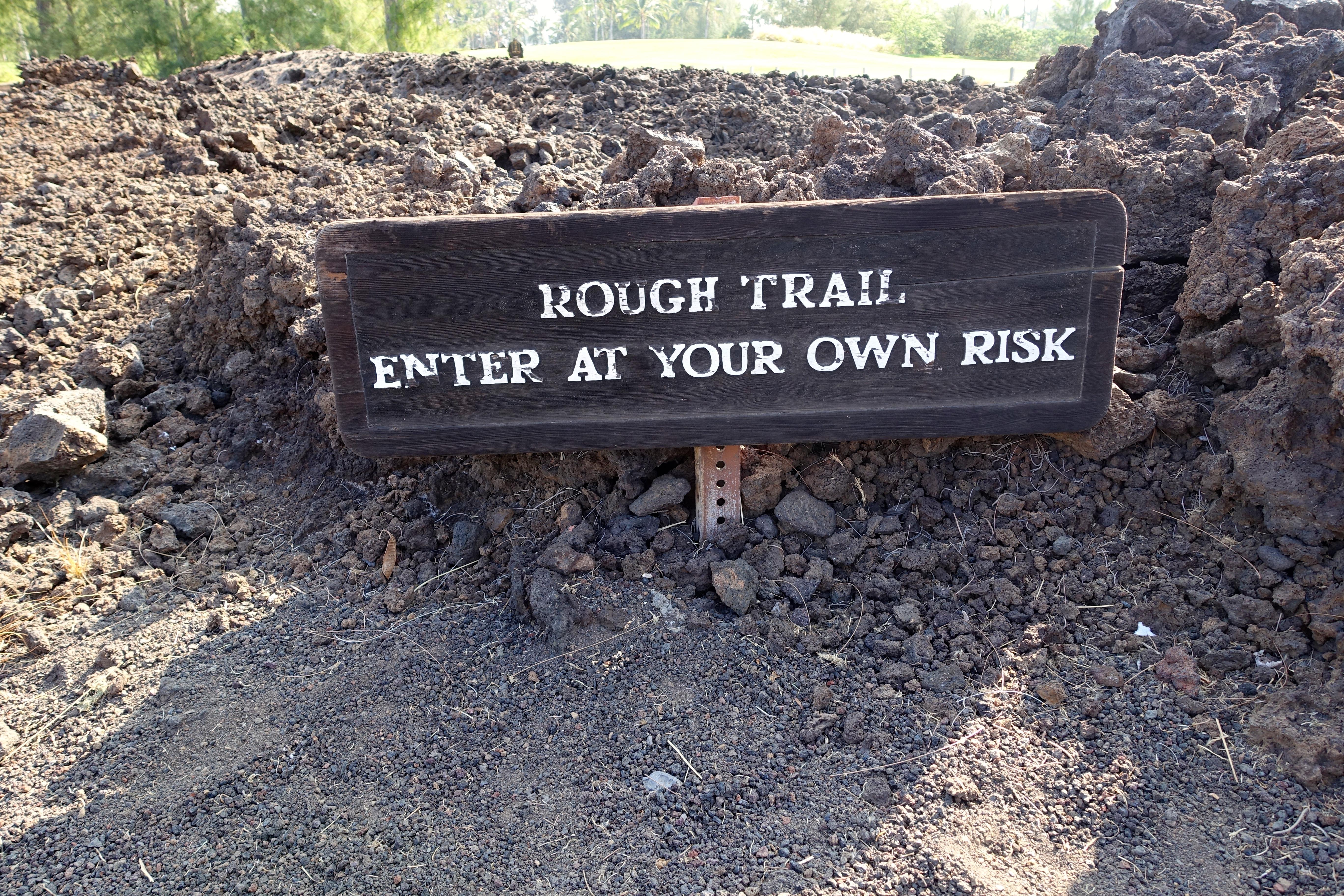 Rough Trail Sign