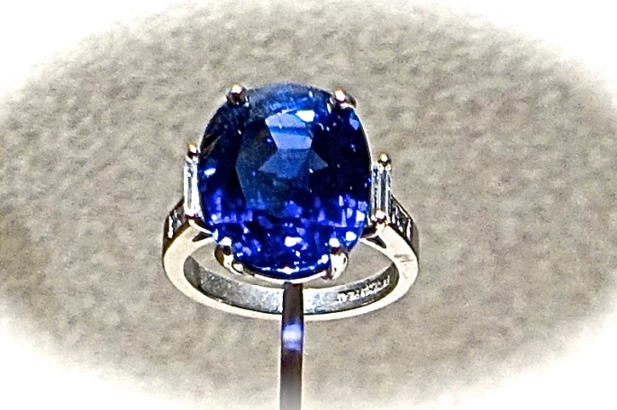 Sapphire from Sri Lanka. Smithsonian