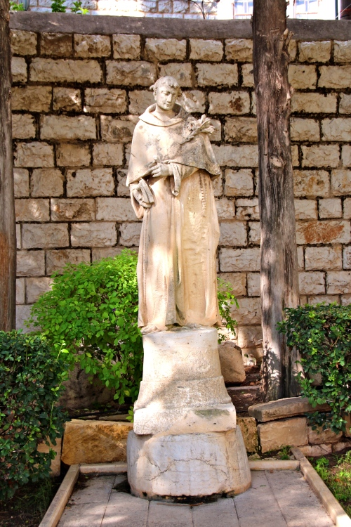 Statue of a saint. Israel