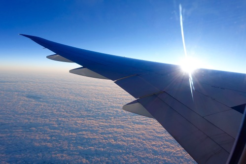 Sun of wing of American Jet