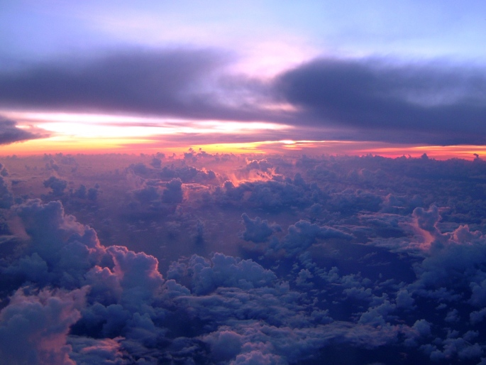 Sunrise from Air