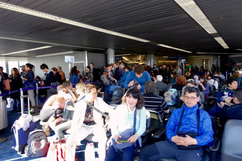 Waiting in Tokyo's Haneda Airport