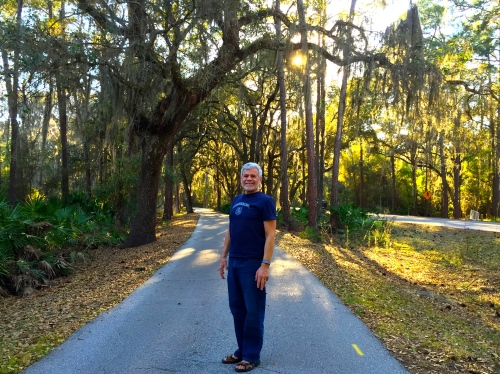 Walking the trail to the Fort Wilderness Lodge