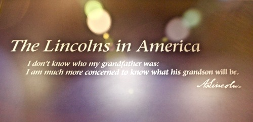 Abraham Lincoln on his grandparents. Abraham Lincoln Birthplace National Historical Park