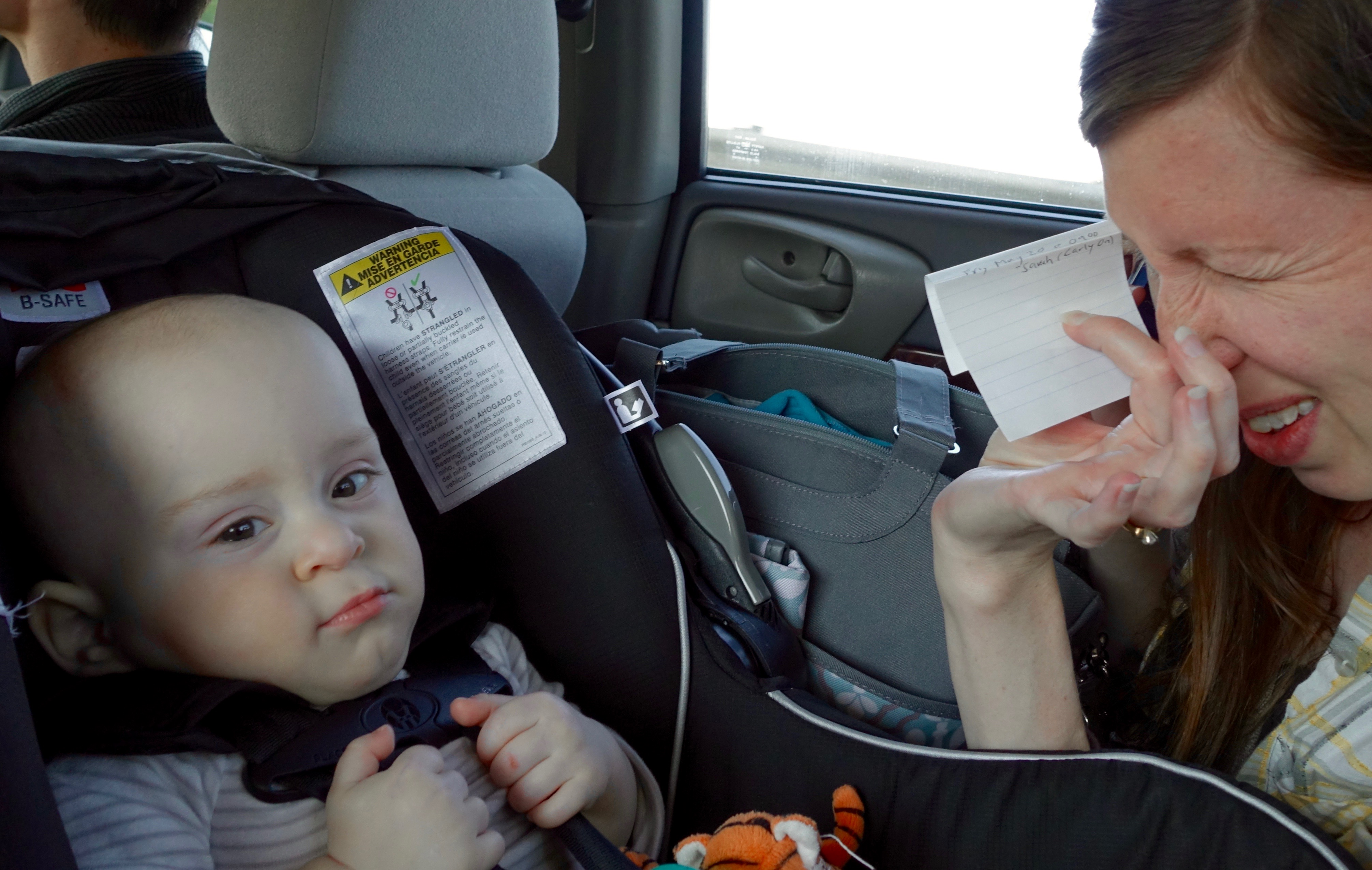 Baby not happy in car seat