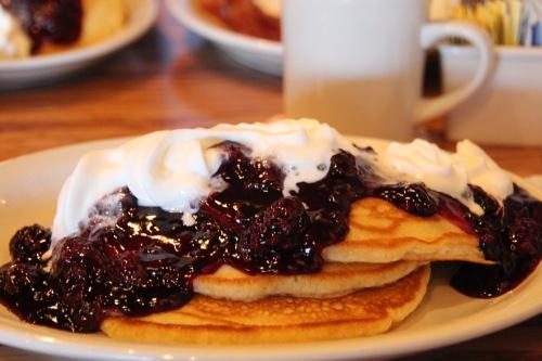 Blackberry Pancakes from Cracker Barrel