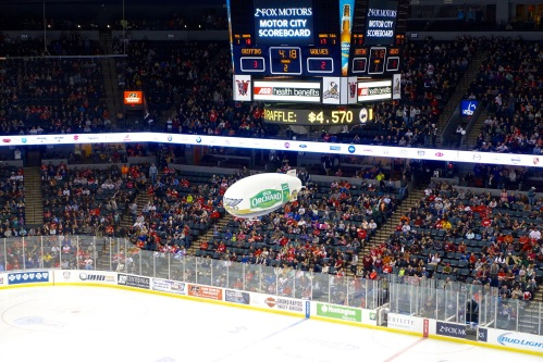 Blimp at Griffins Game