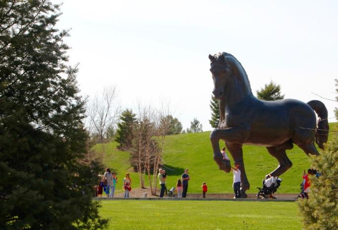 DaVinci's Horse Meijer Garden 4.23.16