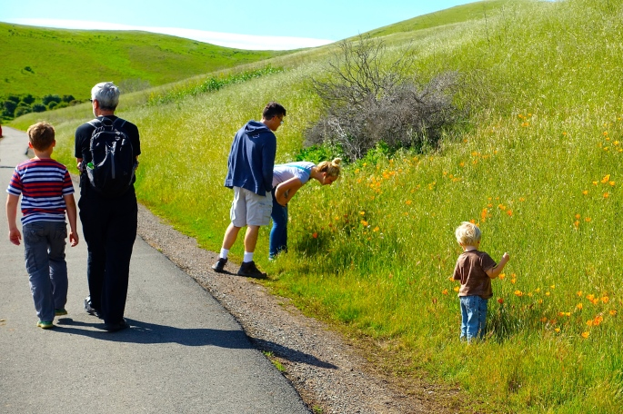 Family Hike in California