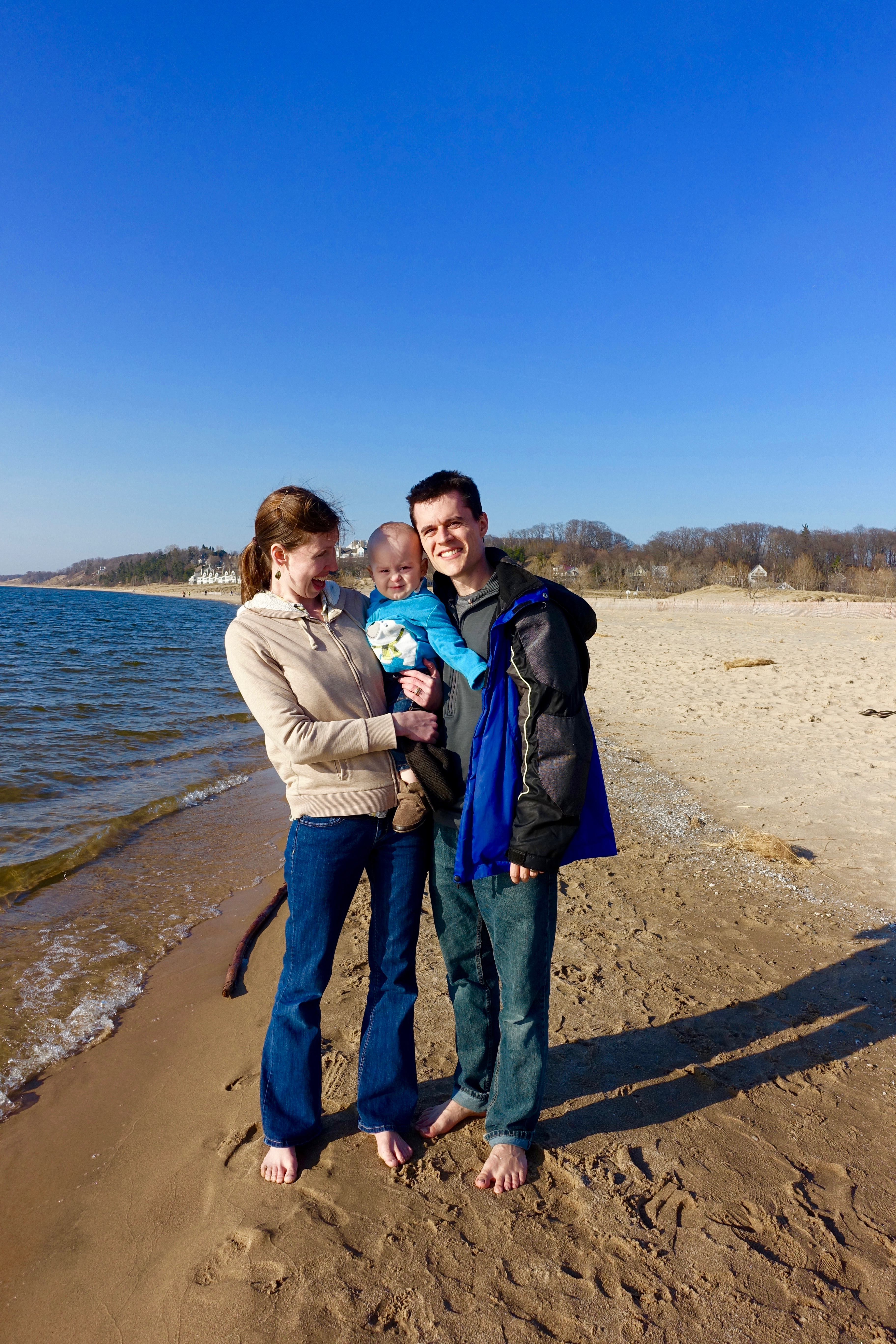 First trip to Lake Michigan in the spring