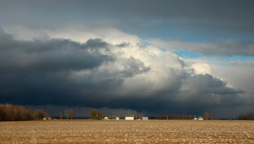 Freak spring storm