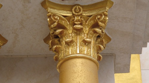 Golden Socket on Pillar