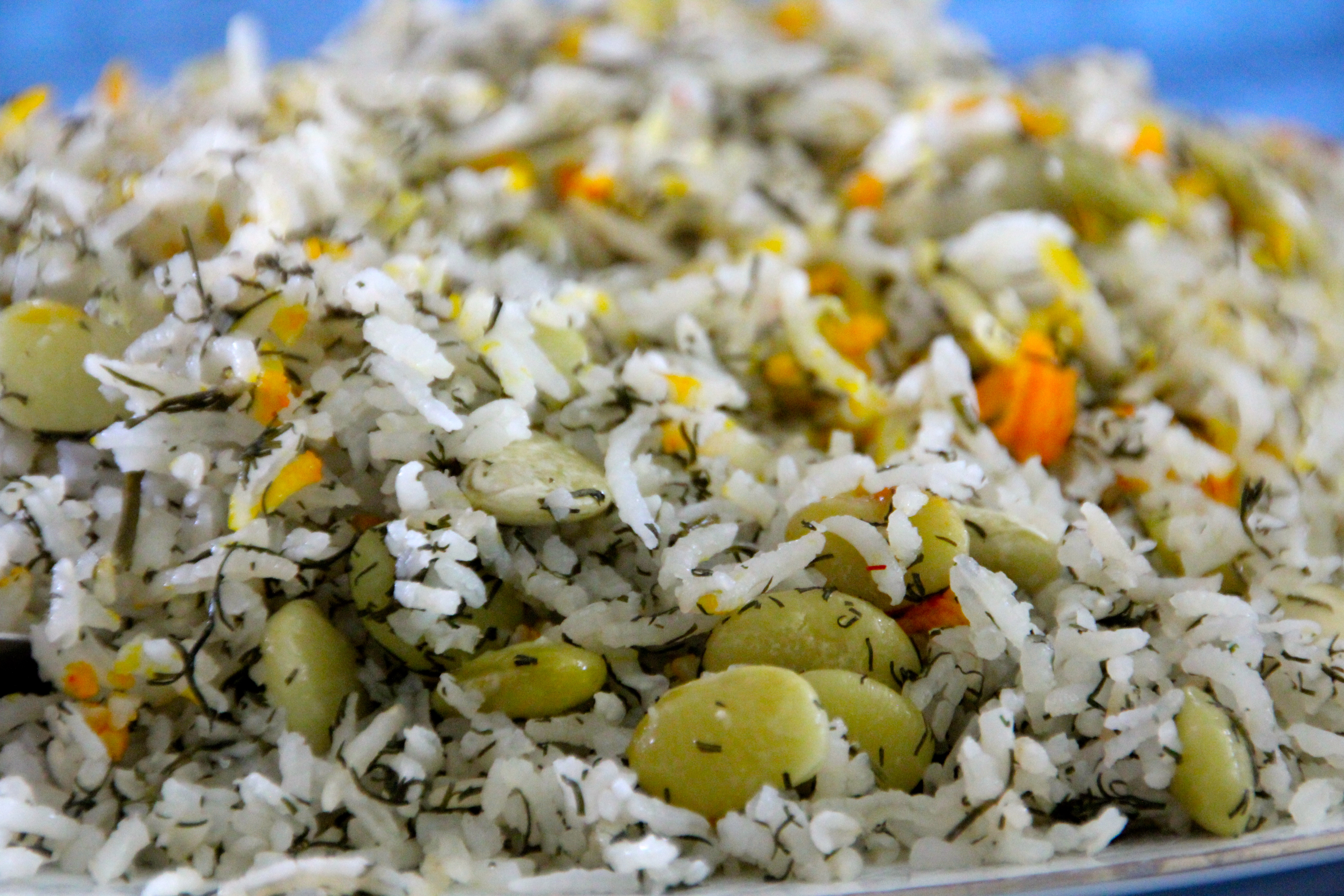 Green Rice with Saffron
