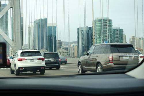 Heavy Traffic on Bay Bridge. San Francisco