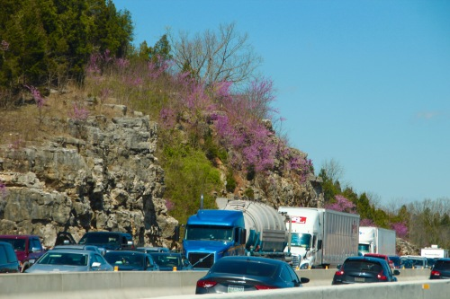 Highways jammed with spring break traffic