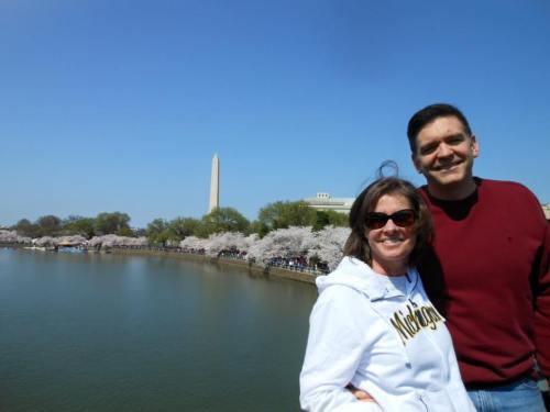 Liz and Chuck with Washington Monument in Background