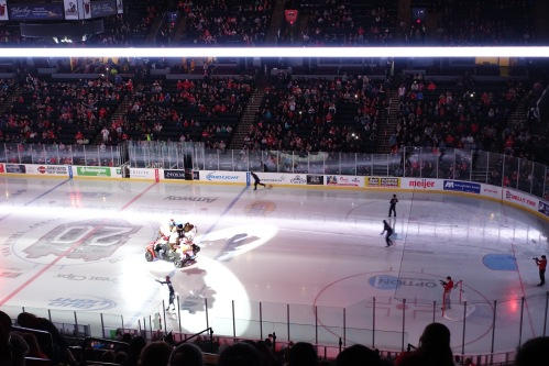 Mascots play at Griffins Game