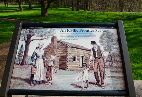 Painting depicting Abraham and Sarah Lincoln's childhood home Abraham Lincoln Birthplace National Historical Park