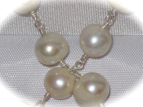 Pearls set in Silver