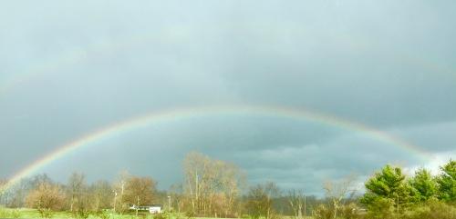 Rainbow. Springtime in Kentucky