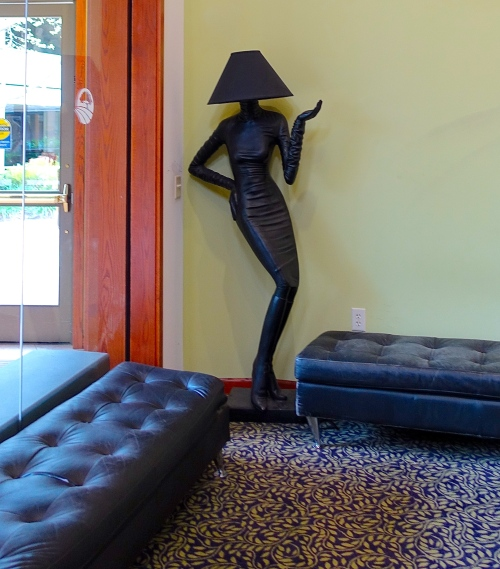 Rossmoor, CA Lamp shaped like a woman